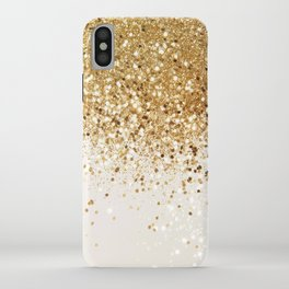 Sparkling Gold Glitter Glam #2 #shiny #decor #art #society6 iPhone Case