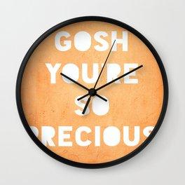 Gosh (Precious) Wall Clock