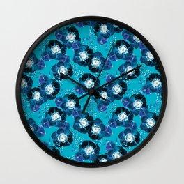 Pretty Anemone Pattern Wall Clock