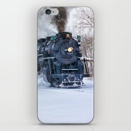 North Pole Express Train (Steam engine Pere Marquette 1225) iPhone Skin