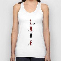 BWR No. 3 Love (white) Unisex Tank Top