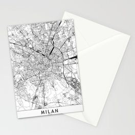 Milan White Map Stationery Cards
