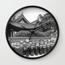 Hanok & Kimchi Pots_Korea Wall Clock
