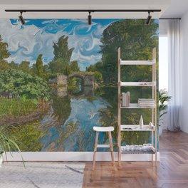 Warwick Castle Bridge River And Trees Wall Mural