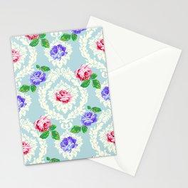 Shabby Chic Rose Pattern Stationery Cards