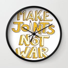 make J not war Wall Clock