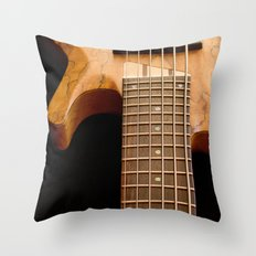 Music is a Moral Law ~ Bass Guitar Throw Pillow