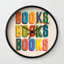 Books books books Wall Clock