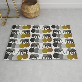 Tribal Elephants Rug