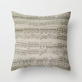 Chords and Arpeggios Throw Pillow