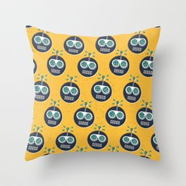 RW PATTERN YELLOW Throw Pillow