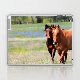 Horses & Bluebonnets II Laptop & iPad Skin