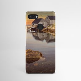 Peggy's Cove Harbor at Sunset in Nova Scotia Android Case