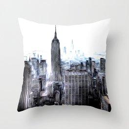 Manhattan Art Throw Pillow