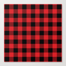 Buffalo Plaid Christmas Red and Black Check Canvas Print