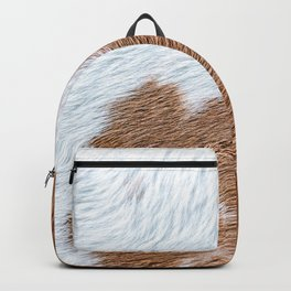 Cow Hide Print Pattern Backpack