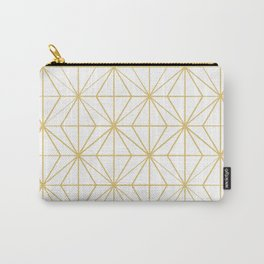 Geometric Golden Pattern Carry-All Pouch