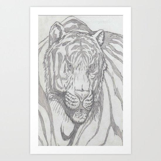 large tiger Art Print