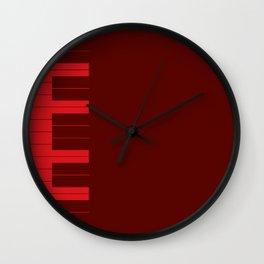 Red Piano Keys Wall Clock
