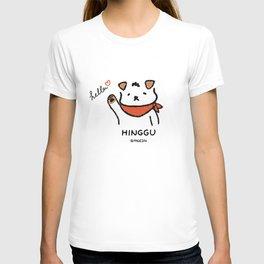 Hinggu_Hello_Korea Jindo Dog illustration T-shirt