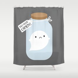 Trapped Little Ghost Shower Curtain