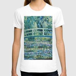 Claude Monet - Water Lilies And Japanese Bridge T-shirt