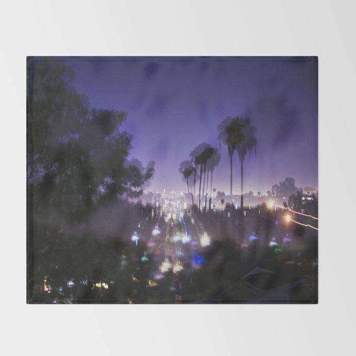 Chasing Light in Los Angeles Throw Blanket