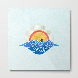 Sailing in a Dragon Boat - Wind Waker Metal Print