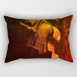 The Color of Music - Double Bass Rectangular Pillow
