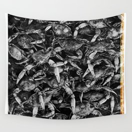 Blue Crabs Wall Tapestry