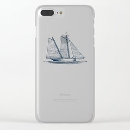 Sailing Vessel Clear iPhone Case
