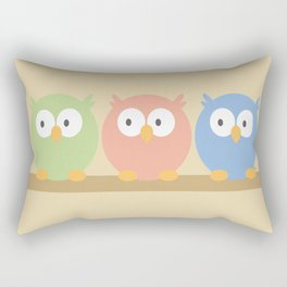 three owls Rectangular Pillow