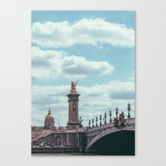Pont Alexandre III, Paris  Canvas Print