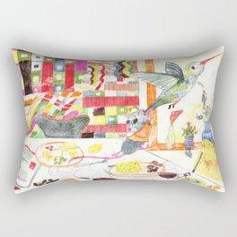 Hummingbird and mouse Rectangular Pillow