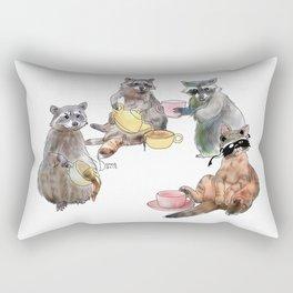 Racoon Tea Party Rectangular Pillow