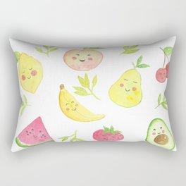 Watercolor Fruit pattern Rectangular Pillow