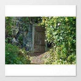 Hidden Doorway in Saumur, France Canvas Print