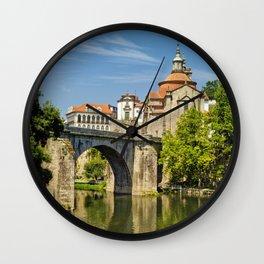 Amarante the Roman Bridge, Portugal Wall Clock