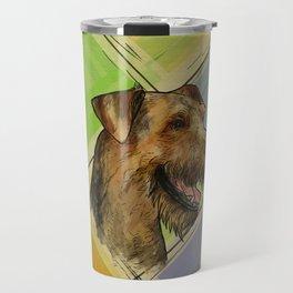 Airedale Terrier Portrait  Travel Mug