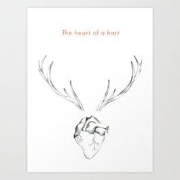 The Heart of a Hart Art Print
