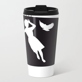 The Black Collection' Birds Metal Travel Mug