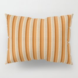 """Orange, Grey & Beige Deco Lines"" Pillow Sham"