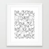 woodland Framed Art Prints featuring Woodland by Lydia Meiying