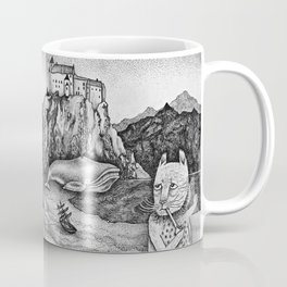 The Whale, The Castle & The Smoking Cat Coffee Mug
