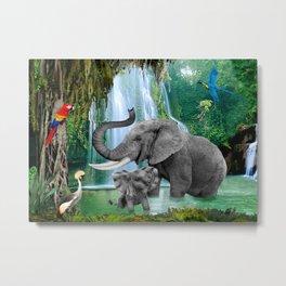 ELEPHANTS OF THE RAIN FOREST Metal Print