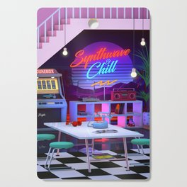 Synthwave And Chill Cutting Board