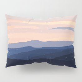 Pastel Sunset Over the Mountains Pillow Sham