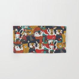 Funky Retro Christmas Animals Hand & Bath Towel