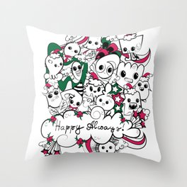 happy always Throw Pillow