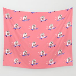 Let's Roll! Peachy Wall Tapestry